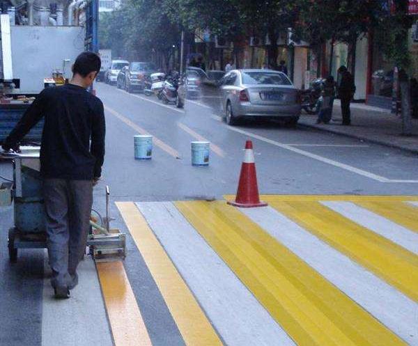 五常马路划线漆